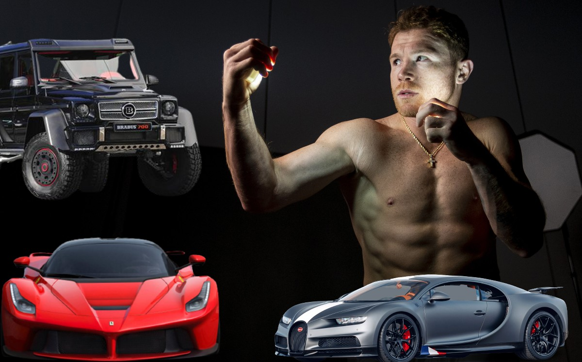 Canelo Alvarez and his luxury car collection;  How many and which ones do you have