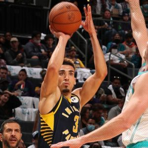 Chris Duarte debuts with the Pacers setting a rookie record