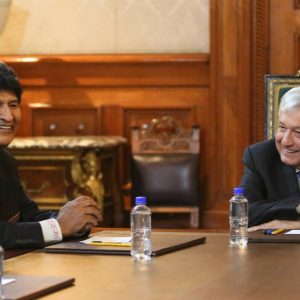 """""""Evo is the most authentic"""";  AMLO receives him at the National Palace"""