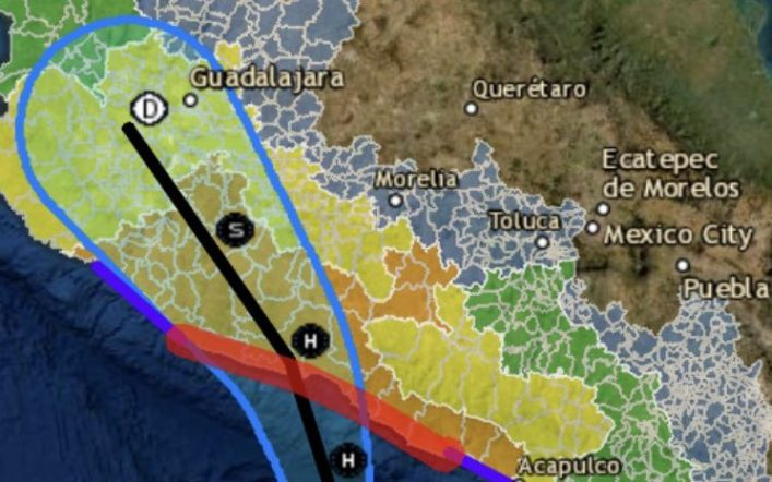 Hurricane Rick is slowly approaching Mexican shores in the Pacific Ocean